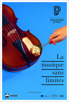 Betc And The Philharmonie De Paris Present: No Limits To Music Outdoor And Gif Campaign poster Betc And The Philharmonie De Paris Present: No Limits To Music Outdoor And Gif Campaign Ads Creative, Creative Posters, Creative Advertising, Advertising Poster, Advertising Design, Advertising Ideas, School Advertising, Product Advertising, Advertising Agency