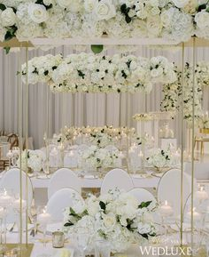 Impartial charted 5 star wedding Offer Ends Gold Wedding Theme, All White Wedding, White Wedding Flowers, Star Wedding, Elegant Wedding, Floral Wedding, Wedding Table Centerpieces, Wedding Reception Decorations, Luxury Wedding Venues
