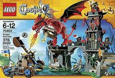 Get your kids imagination and ingenuity started with this awesome LEGO Castle Dragon Mountain Building Playset 70403 NEW SEALED RETIRED SET he will surely love. What kid doesn't like Castle's, Dragon's, and Knights. #lego #creativity #playset #dragon #castle #knightinarmor #retired #toys