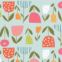 Fresh Blooms Organic Fabric by Monaluna