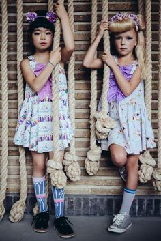 Ruffled front dresses from  Fäfä kidswear for summer 2015