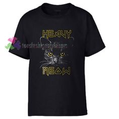 Heavy Meow Cat Rock Tshirt shirt Tees Adult Unisex custom clothing Size S-3XL //Price: $11.99  //