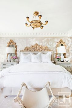 French bedroom, gold decor