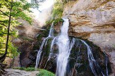 Cascada de la Cueva by Marcel Ilie on Waterfall, Spain, Marcel, Green, Outdoor, Caves, Waterfalls, Outdoors, Sevilla Spain