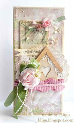 From Agata, aka Bligu, in Szamotuly, Wielkopolska, Poland. Czerwcowe śluby vol… Estilo Country, Shabby Chic Cards, Beautiful Handmade Cards, Bird Cards, Marianne Design, Mothers Day Cards, Pretty Cards, Card Tags, Flower Cards