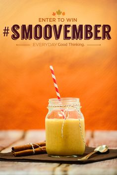 #Smoovember Week 1 and Spiced Pumpkin Smoothies