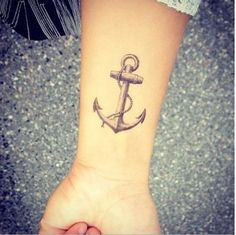 Anchor tattoo for men and women - Indes and inspiration - wrist