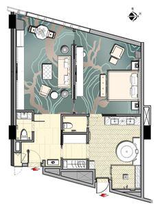 Luxury Accommodations In Mandarin Oriental Wangfujing, Beijing Suite Room Hotel, Hotel Room Design, Hotel Suites, Best Hotels In Amsterdam, London Hotels, Villa Design, House Design, Hotel Floor Plan, Estero Florida