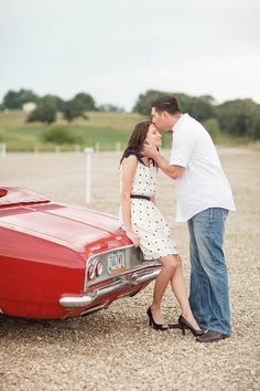 drive in engagement session | Ashley Noelle Edwards