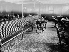 Third Class activity room in the RMS Titanic