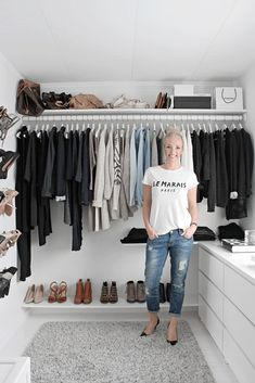 Ideas Walk In Closet Organization Ideas Ikea Dressing Rooms Walk In Closet Design, Closet Designs, Closet Bedroom, Closet Space, Wardrobe Closet, Ikea Closet, Simple Wardrobe, Ikea Walk In Wardrobe, Minimal Wardrobe