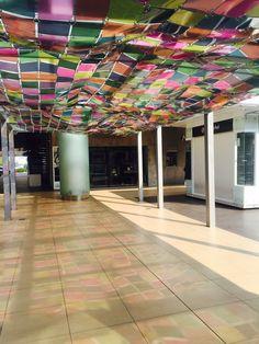 Art intsallation colors light  Andares Shopping Mall Guadalajara Jalisco
