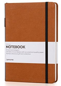 Thick Classic Notebook with Pen Loop - Lemome Wide Notebooks, Journals, Leather Notebook, A5, Personal Care, Classic, Beauty, Derby, Self Care
