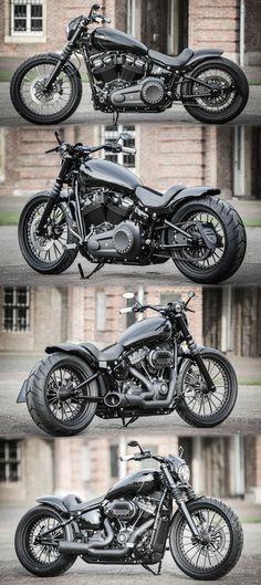 "Thunderbike ""Street Digger"" customized Harley-Davidson Softail Steet Bob 2k18"