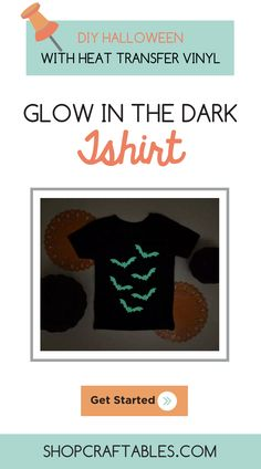 Use glow in the dark and your Silhouette cameo to make this super cute personalized shirt for Halloween! Your kids will never get lost in the crowd! Check out this 30 minute tutorial from Vinyl Crafts, Vinyl Projects, Diy Craft Projects, Diy Party Costumes, Cheap Heat Transfer Vinyl, Halloween Vinyl, How To Use Cricut, Silhouette Cameo Machine, Vinyl Shirts
