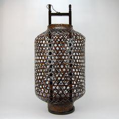 Bamboo lantern. Beijing-China, 20th century.  € 195.00  Height: 88 cm Ø 41 cm