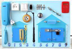 """Развивающие игрушки ручной работы. Ярмарка Мастеров - ручная работа. Купить Бизиборд """"Blue Style"""". Handmade. Голубой, развивающая игрушка"""
