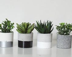 Planter/Concrete Candle Holder/Concrete Planters/Concrete Planters/Succulent Planters/ Home decor/Gray Concrete/ Concrete Pot/Gift for House