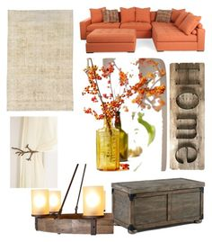 """""""orange country"""" by keishanewman on Polyvore featuring interior, interiors, interior design, home, home decor, interior decorating and country"""