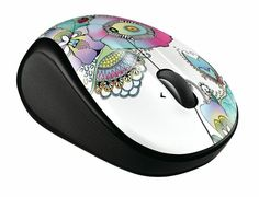 """The M325 wireless mouse delivers precision, comfort, and designed-for-Web scrolling. Choose from several colors and patterns! Go to logt.ly/ec0613, repin at least one of our Eye Candy mice and anything you consider to be """"eye candy"""" and follow Logitech for a chance to win!"""
