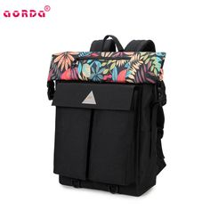 Fashion floral style high capacity backpacks for school