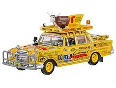 This Mercedes-Benz 220S Diecast Model Car is Yellow and features working wheels. It is made by IXO and is 1:43 scale (approx. 8cm / 3.1in long). This model comes in dealer packaging....