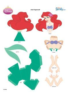 Ariel - Little Mermaid 3D Paper Craft, FREE download
