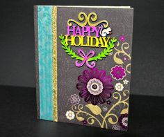 Unique Happy Holiday Card by NishsCreations on Etsy