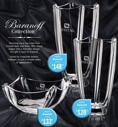 Corporate Awards. West Shore Recommends ....Baranoff Lead Free Crystal Vase and Bowl for corporate awards  contact: westshoreassoc@aol.com