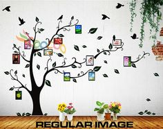 Cute idea for a playroom, hallway near the kids room or just about anywhere fun...Wall Decal Sticker Removable Photo Frame Tree With by coocoodecal, $39.95