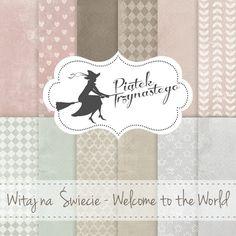 Zestaw papierów Witaj na Świecie cm Craft Style Say Hello, Welcome, Quilling, Decoupage, Scrapbooking, World, Creative, Crafts, Style