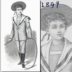 Victorian Reproduction PDF Pattern  1890's  by RepeatedOriginals