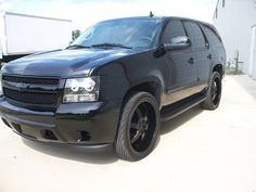 2007 Chevrolet Tahoe blacked out. Ideas!