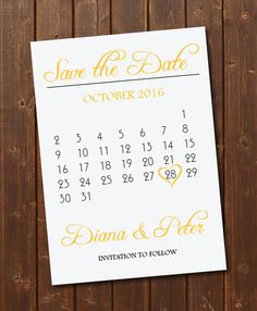 Gold  Black Save The Date Calendar TemplateSave The Date