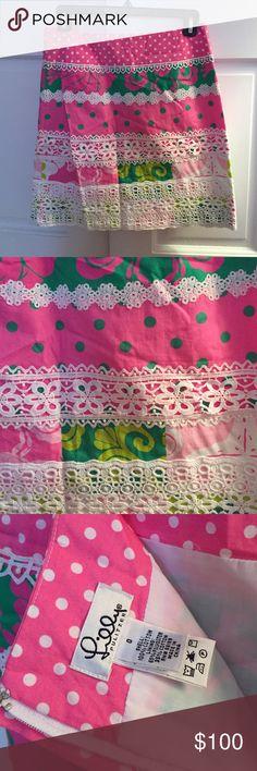 Lilly Pulitzer Skirt Lilly Pulitzer Skirt, beautiful pattern! Lilly Pulitzer Skirts Mini