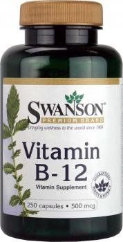 Swanson Vitamin B12 500mcg, 250 Capsules - http://vitamins-minerals-supplements.co.uk/product/swanson-vitamin-b12-500mcg-250-capsules/