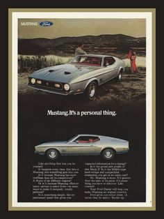 1971 Ford Mustang Mach 1 vintage magazine ad by catchingcanaries