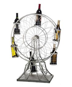 Jenna --- this is the wine bottle holder I was telling you about! Love this Ferris Wheel Wine Bottle Holder on Cool Ideas, Amazing Ideas, Champagne, Wine Bottle Holders, Wine Bottles, Wine Glass, Wine Refrigerator, Liqueur, In Vino Veritas