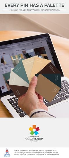 I found these colors with ColorSnap® Visualizer for iPhone by Sherwin-Williams: Terra Brun (SW 6048), Skyline Steel (SW 1015), Peacock Plume (SW 0020), Toasted Pine Nut (SW 7696), Vintage Gold (SW 9024), Polished Mahogany (SW 2838), Dark Night (SW 6237), Tatami Tan (SW 6116). See the pin that inspired my palette: https://www.pinterest.com/pin/167829523591166146/