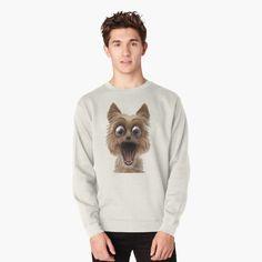 surprised dog face Surprised Dog, Shark, Graphic Sweatshirt, Sweatshirts, Face, Dogs, Fashion, Moda, Fashion Styles