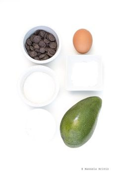 Brownies con cioccolato e avocado - Ingredienti