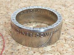 Ringe - Ring,aus 5 DM (Kölner Dom) 1980,Ø innen 19,5mm - ein Designerstück von schmuck-checker bei DaWanda