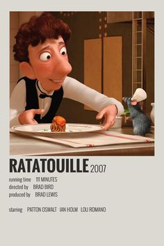 Alternative Minimalist Movie/Show Poster - Ratatouille Iconic Movie Posters, Minimal Movie Posters, Cinema Posters, Movie Poster Art, Iconic Movies, Film Posters, Poster Wall, Vintage Music Posters, Disney Movie Posters