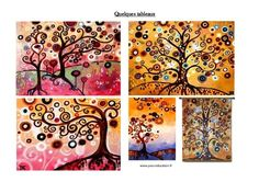 Arbres d'automne à la manière de Natasha Wescoat - Arts plastiques - Cycle 2…