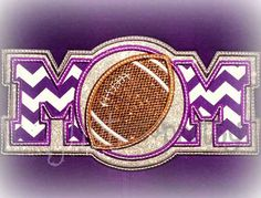 Football Mom Embroidery Applique Design by justsewpretty on Etsy
