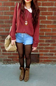 I like this outfit for school but, the shorts may be a little too short.
