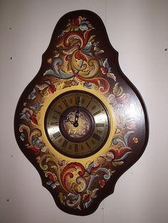 Rosemaling! stunning clock by  RUNE NESHER