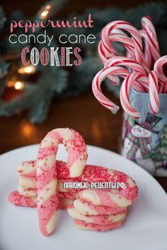 Двойное Рождественское печенье (мятные леденцы)