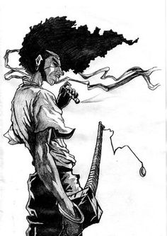 Afro Samurai is definitely one of my favorites. Not only because he's voiced by Samuel L. Jackson, but the style of the show itself is phenomenal.