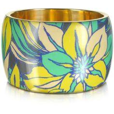 Antik Batik Delphi Multicolor Resin Bangle Bracelet (310 DKK) ❤ liked on Polyvore featuring jewelry, bracelets, accessories, bangles, pulseras, green, floral jewelry, hinged bangle, resin bangles and resin jewelry